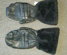 Vintage steerhide leather snowmobile mittens xl