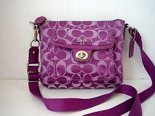 Tone on Tone Purple Sm COACH Park Signature Pocket Swingpack Bag F45026
