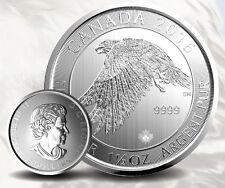 Canada Faucon des neiges 1,5 once argent 1,5 oz 8 dollars Snow Falcon