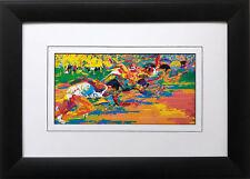 """""""Olympic Track '76 '"""" LeRoy Neiman CUSTOM FRAMED Art print Montreal Running Race"""