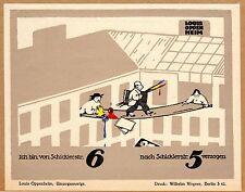 ADVERTISEMENT GRAPHICS GERMAN 1921 LOUIS OPPENHEIM STUDIO MOVE