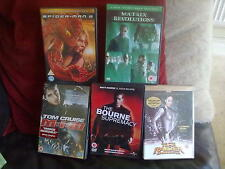 Spider Man 2/Matrix Revolutions/M:I:II/Bourne Supremacy/Tomb Raider DVD:0/All PG