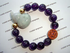 Feng Shui - Jade Wu Lou & I-Ching Coin with 12mm High Grade Amethyst