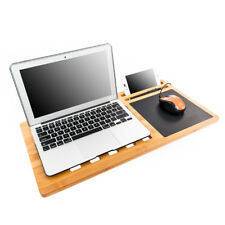 Bamboo Lap Desk Lapdesk with Mouse Pad, Laptop Cooling Pad Lap Tablet