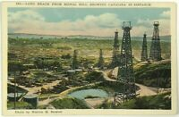 1900's Long Beach Signal Hill Towers Catalina Distant View California Postcard