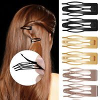 10Pcs Girls Double -grip Hair Clips Metal Snap Barrettes Women Hair Styling Tool