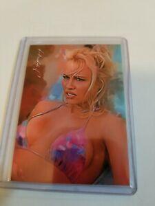 Pamela Anderson #46 Sketch Card Limited 5/50 Edward Vela Signed