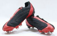 Nomis The Black Pearl Soft Ground Wet Control Retro  Football Boots Black-Red