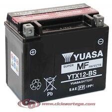 Yuasa YTX12-BS 12V 10Ah Batería para Moto - Negra