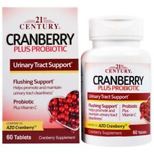 2 x Cranberry Plus Probiotic, Urinary Tract Support, 60 Tablets(120 Tabs/2B)