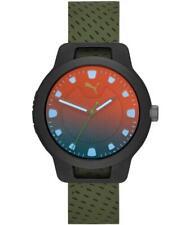 Orologio Uomo PUMA RESET P5011 Silicone Verde Nero Sportivo Colorato