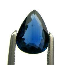 0.70 carat Pear 7x5mm Deep Blue Color Natural Australian Sapphire Loose Gemstone