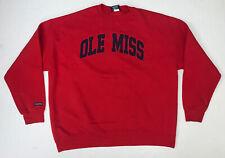 Vintage 90's Ole Miss Rebels Jansport Crewneck Sweatshirt Size Adult 2XL Red