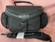 Vintage BLACK 'SONY. HANDYCAM'  Video Camera Bag In Excellent Condition. VGC
