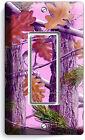 PINK OAK LEAVES MOSSY TREE CAMO CAMOUFLAGE SINGLE GFCI LIGHT SWITCH WALL PLATE