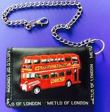 London  Wallet Money & Card Holder With Chain British England UK Souvenir Gift