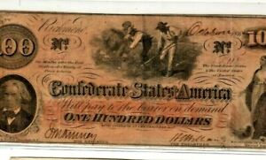 """$100 """"SLAVES HOEING""""(CONFEDERATE)  $100 """"NICE"""" (WATERMARK) CRISPY!!!! NICE!!!!"""