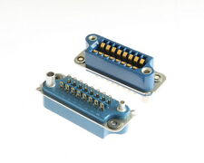 26 Series 16 Pin Contact Rack and Panel Blue Ribbon Connector Receptacle WirePro