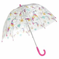 Kids Unicorn Clear Dome Umbrella by Susino