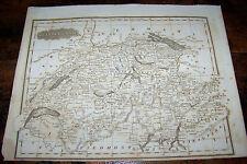 1829 ANTIQUE MALTE BRUN SWITZERLAND EUROPE ATLAS MAP COPPER ENGRAVING