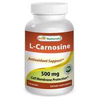 Best Naturals L-Carnosine 500 mg 100 Veggie Capsules