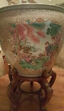 19 Century Chinese Quangxu Fish Bowl Planter signed