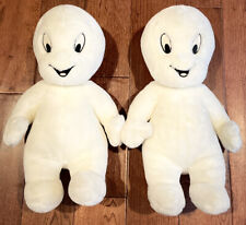 """Casper The Friendly Ghost Plush Stuffed Toy Harvey 1998 18"""" lot of 2 Exc. Cond."""