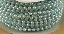 Pearl Plastic Beads on a String 4Mm Faux Craft Roll 24 yds (Light blue)