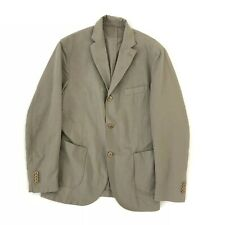 Montedoro By Slowear Khaki Linen Cotton Giacco Sport Blazer Jacket, IT52 UK 42
