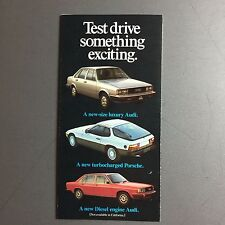 1980 Porsche 924 & 928 Test Drive Black Showroom Sales Brochure / Prospekt RARE!