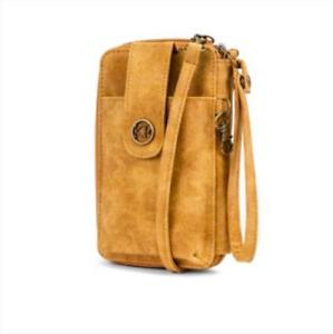 Kim Rogers Wristlet wallet Crossbody Bag small Purse Mustard Gold yellow