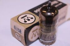 6U8A WESTINGHOUSE VINTAGE TUBE WITH BLACK PLATES -  NOS IN BOX