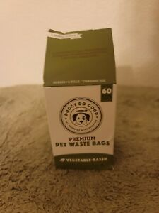 Doggy Do Good Premium Pet Waste Bags Vegetable Based 60 Bags Small Biodegradable