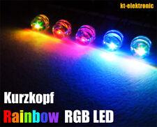 10 Stück LED 5mm Kurzkopf Auto RGB LED langsamer Farbwechsel / Regenbogen