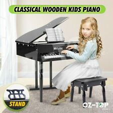 Kids Piano Wooden Pretend Musical Toy Piano Children Grand Style Toy Mini 30 Key
