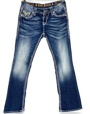 Rock Revival Kai Easy Boot Stretch Blue Jeans size 27 x 31 1/2