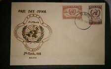 Malaysia 1958 14th session Ecafe Conference Malaya  FDC  2v stamp