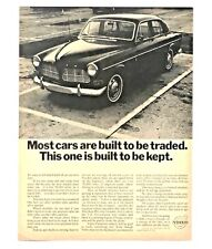 1966 Volvo 122 Advertisement Built To Be Kept Canadian Car Photo Vtg Print AD