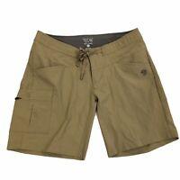 Mountain Hardwear Womens size 6 Solid Beige Khaki Athletic Hiking Casual Shorts