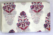 10 Yard Indian Hand Block Print Cotton Voile Fabric Sewing Material Fabric 69