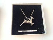 """Deer WLDEEP Emblem on Silver Platinum Plated Necklace 18"""""""