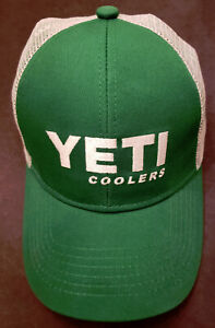 YETI Hat Green/White Discontinued, Hard to Find