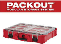 Milwaukee Small Parts Organizer 11-Compartment Storage Clear Top Weather Seal