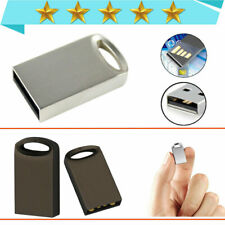 Metal Mini USB2.0 Flash Drive Memory Stick 1MB-64GB Pendrive U Disk Silver lot-