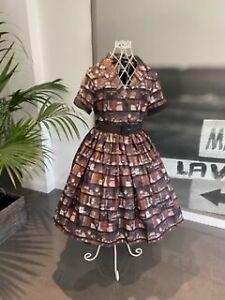 Lindy Bop Bletchley Decorative Bookcase Vintage Style Dress