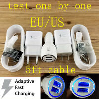 ORIGINAL Fast Charging Car Wall 9V Charger Cable For Samsung Galaxy S6/S7/Edge