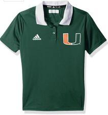 Adidas Women's Miami Hurricanes Football Sideline Polo Jersey Shirt XL NCAA