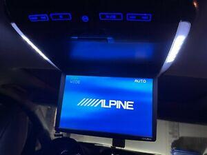 "Alpine PKG-RSE2 TMX-R2000 10.2"" Overhead Video Monitor Built-in DVD Side Broken"