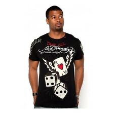 ED Hardy Men's Studded T-shirt Flying Ace Small