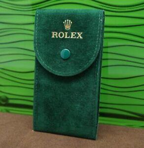 New style Rolex service Velvet Travel Pocket Green Pouch + Holder ♕⌚️♕